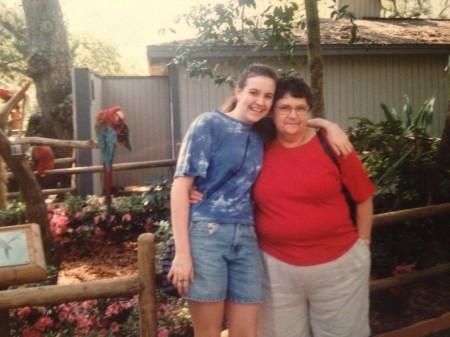 Aunt Rita and I in 1998.